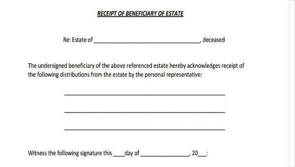 free template of letter from life insurance company to beneficiary  Sample Beneficiary Release Forms - 7  Free Documents in Word, PDF