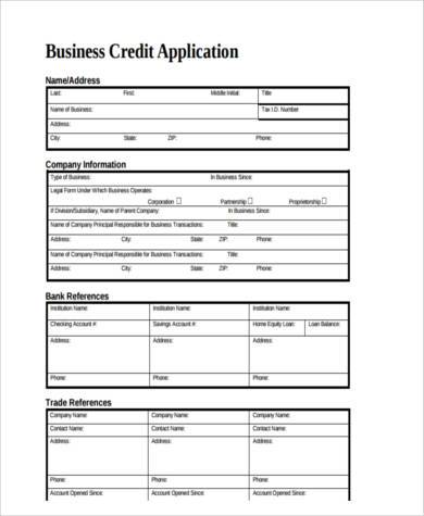 Business Application Form Samples  Free Sample Example Format