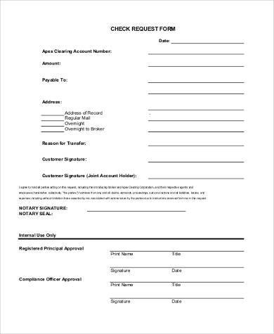 7 request form samples free example sample format download for Option house com