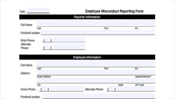 Employees Record Template from images.sampleforms.com
