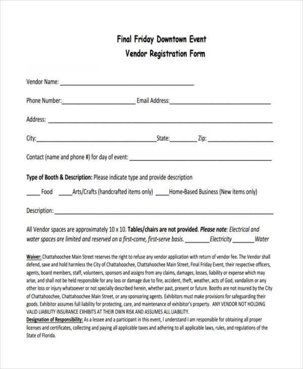 Event Registration Form Samples  Free Sample Example Format