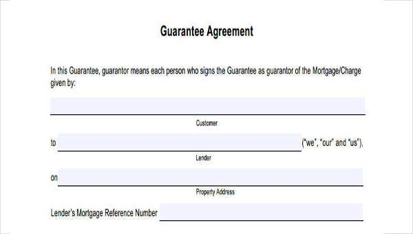 Free 8 Sample Guarantor Agreement Forms In Pdf Word