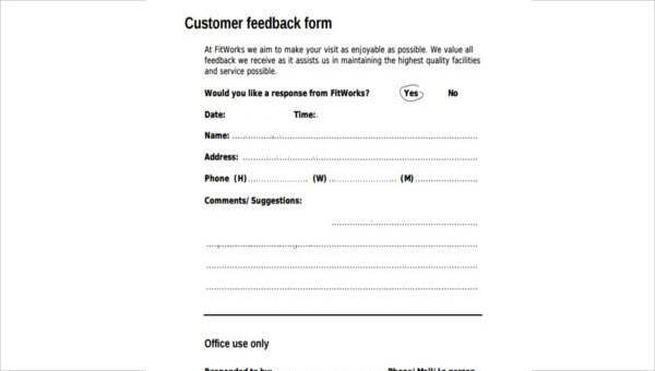 hotel guest comment form sample. Black Bedroom Furniture Sets. Home Design Ideas