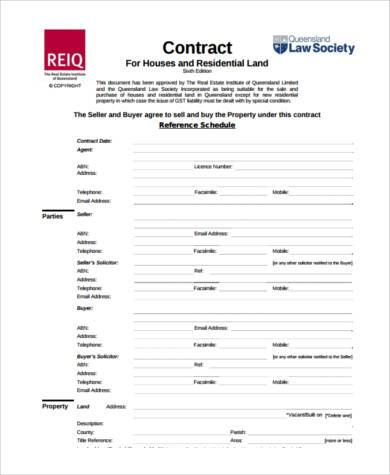 House Agreement Form Samples  Free Sample Example Format Download