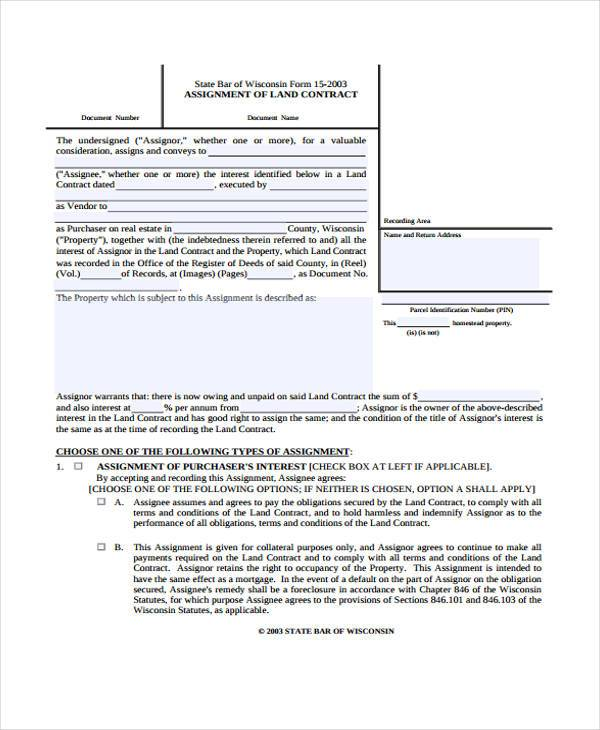7+ Contract Assignment Form Samples - Free Sample, Example Format