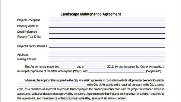 Property Maintenance Contract Template Free from images.sampleforms.com