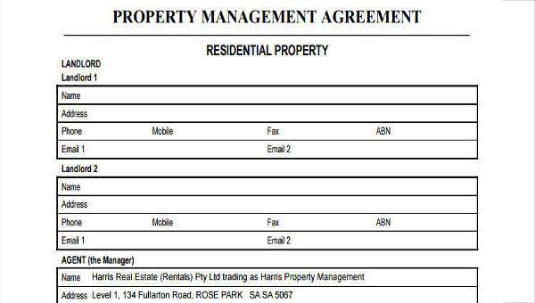 Free 8 Sample Management Agreement Forms In Pdf Word
