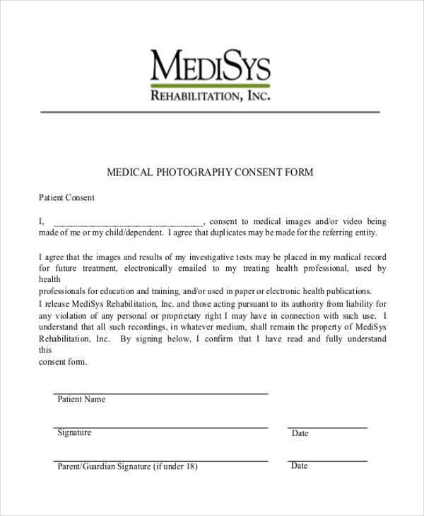 7 Medical Consent Sample Forms Free Example Sample Format Download – Sample Medical Consent Form
