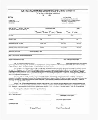 Sample Waiver Forms  Free Sample Example Format Download