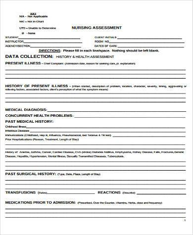 Assessment Form Samples  Free Sample Example Format Download