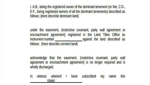 Sample Party Wall Agreement Forms 7 Free Documents In Word Pdf
