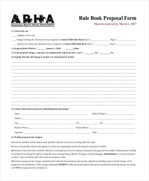 Book Proposals Form Samples  Free Sample Example Format Download