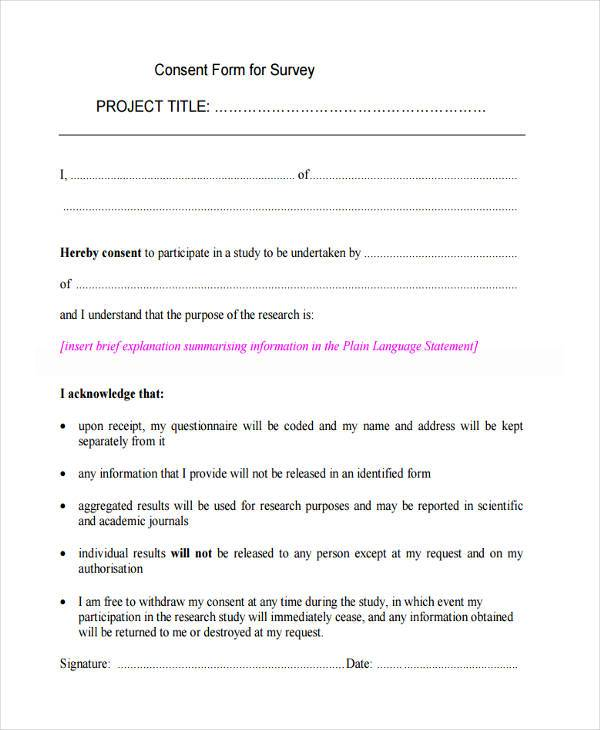 Sample Informed Consent Form