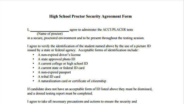 Sample Security Agreement   10 Security Agreement Form Samples Free Sample Example Format