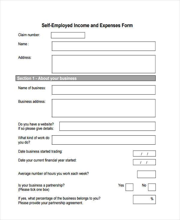 Sample Employment Expenses Forms   Free Documents In Word Pdf