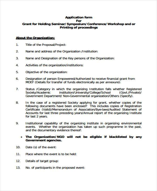 seminar proposal form example