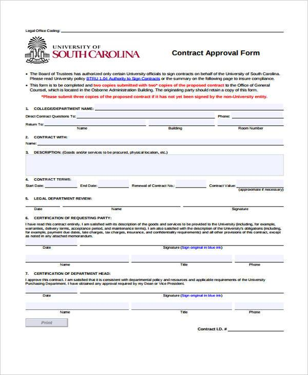 7+ Service Contract Form Samples - Free Sample, Example Format ...