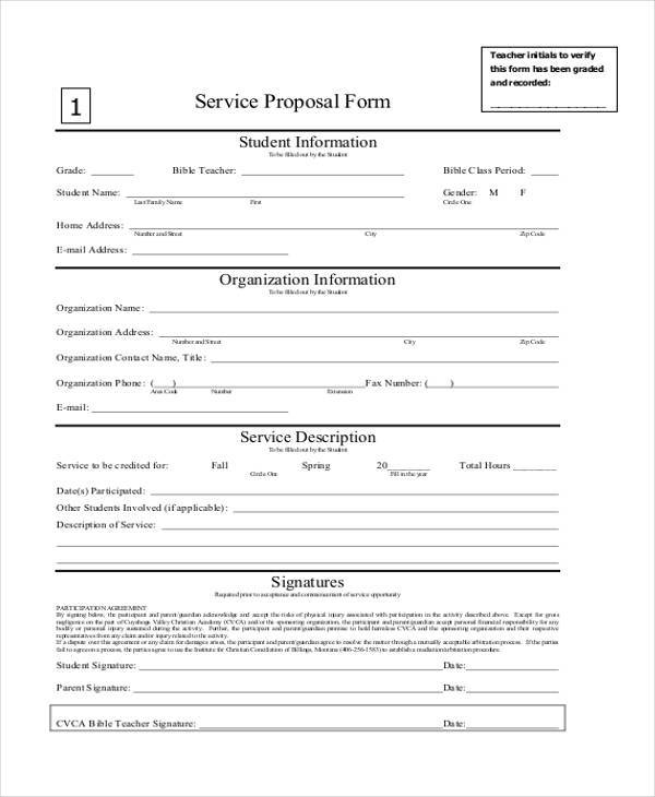service proposal form in pdf