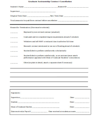 simple contract cancellation form