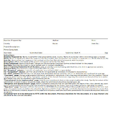 simple environmental assessment form