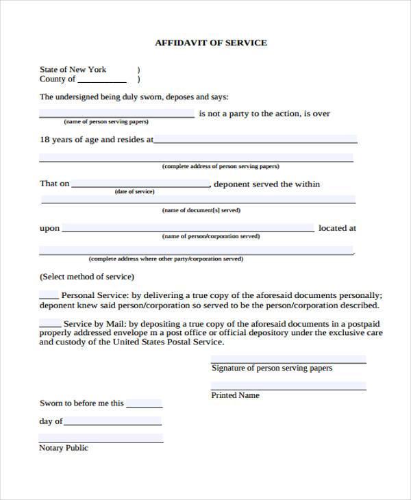 Doc7301000 Simple Affidavit Form Doc7301000 Simple Affidavit – Simple Affidavit Form