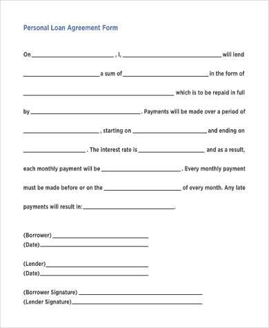 Simple Loan Document