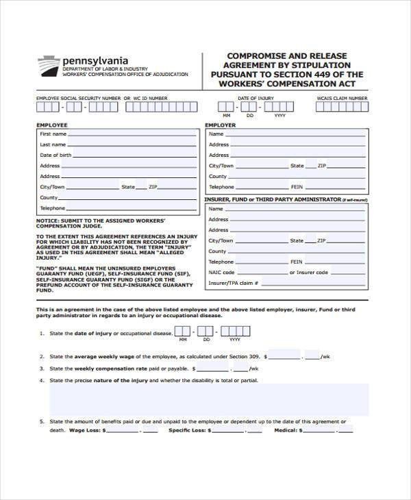 Release Agreement Form Samples  Free Sample Example Format Download