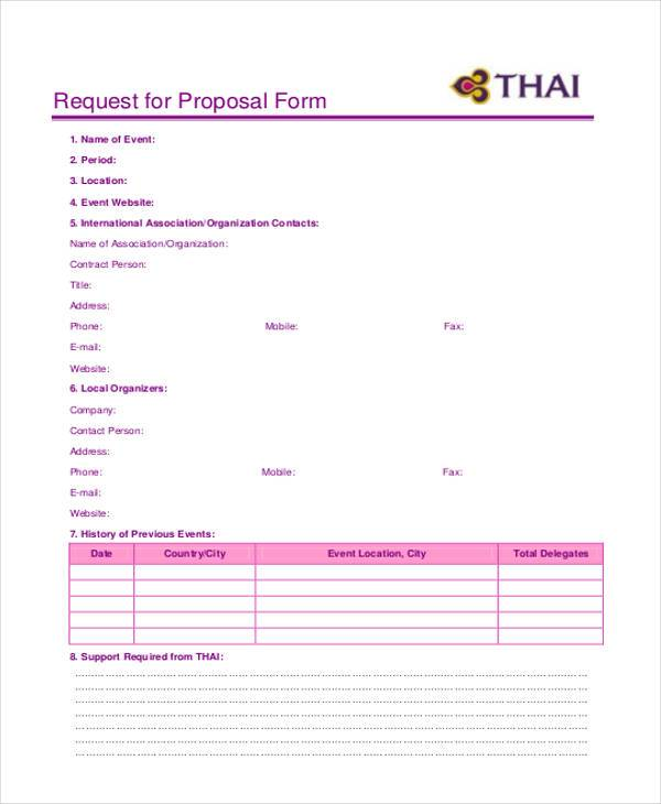 simple request for proposal form