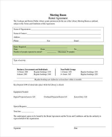 Simple Room Rental Agreement Form Free  ShoeCom