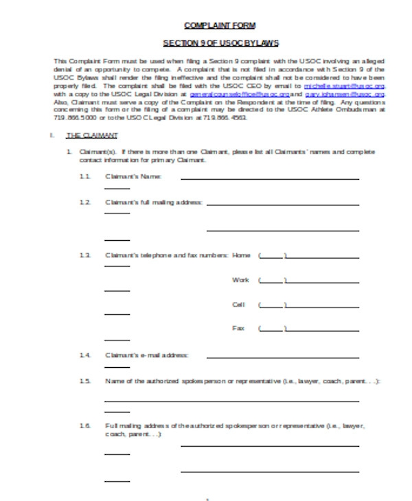 simple legal complaint form1