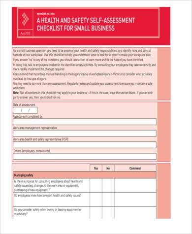 small business assessment form
