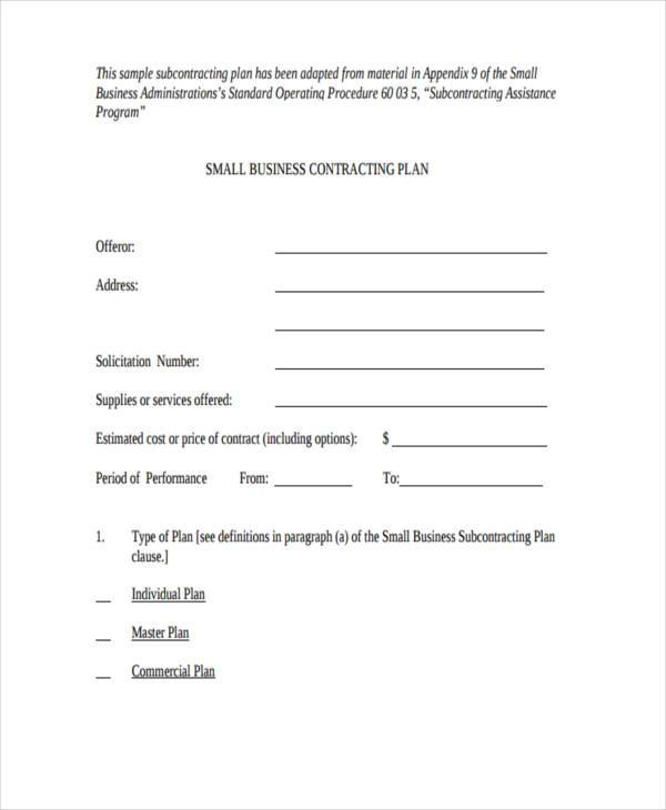 Sample Business Contract Forms Free Documents In Word PDF - Small business contract template