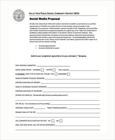 social media proposal pdf