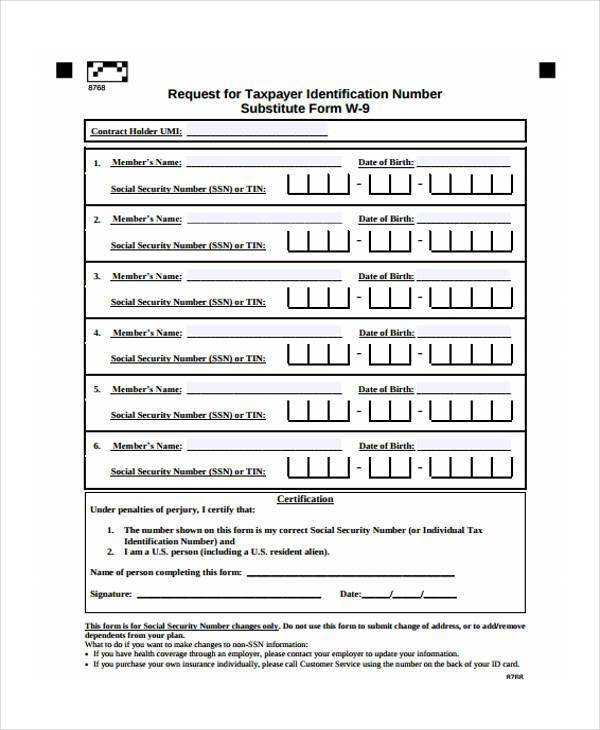 social security card form in pdf