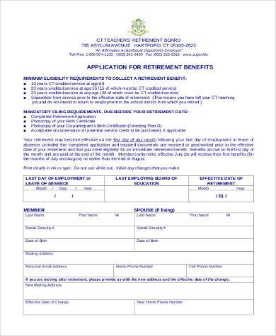social security retirement application form