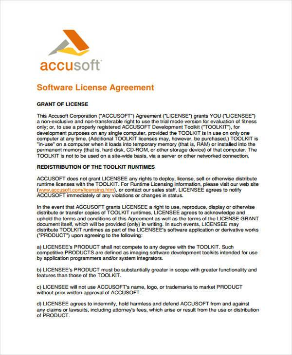 License Agreement Form Samples  Free Sample Example Format Download