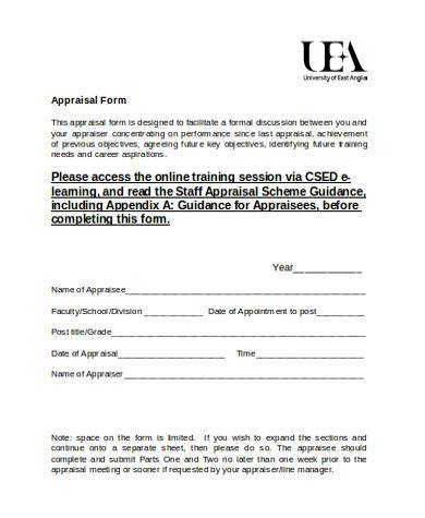 Staff Appraisal Form Samples   Free Documents In Word Pdf