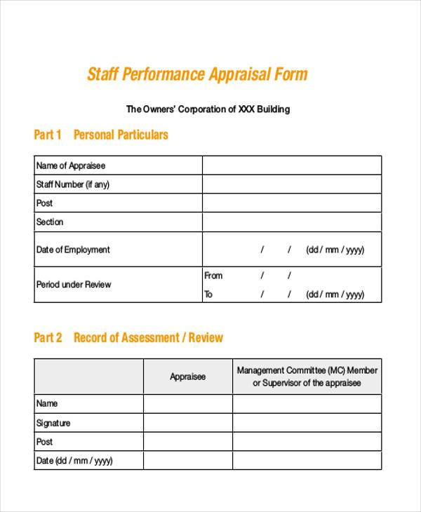 Sample Appraisal Forms In Pdf - 27+ Free Documents In Pdf