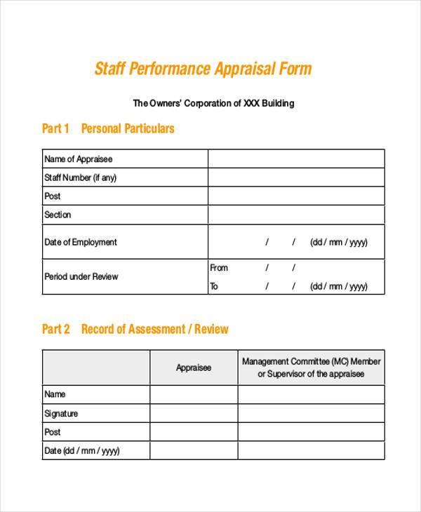 staff performance appraisal form3