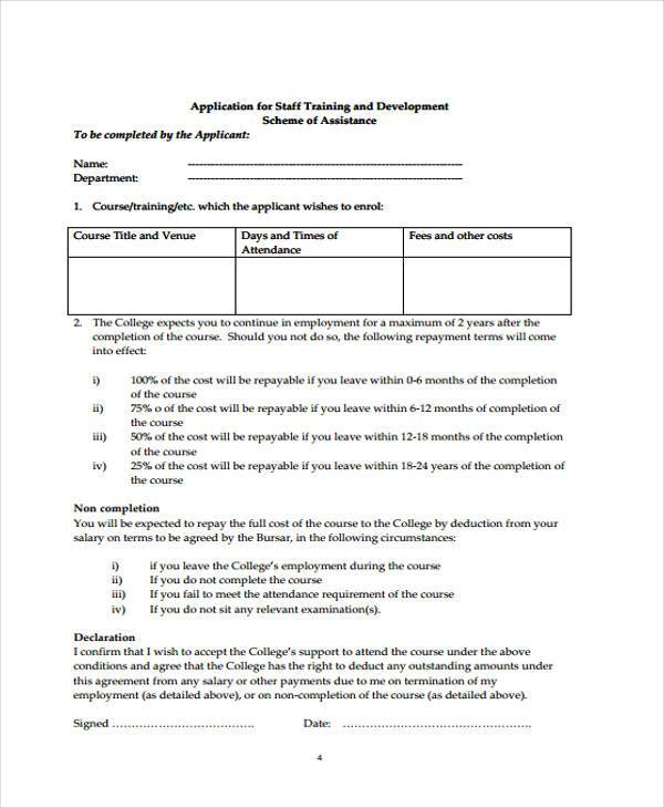 staff training review form