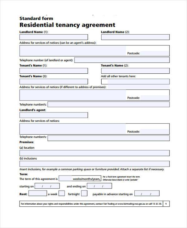 A List Rentals: FREE 7+ Generic Rental Agreement Form Samples In Sample