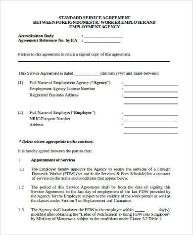 Standard Services Agreement Form