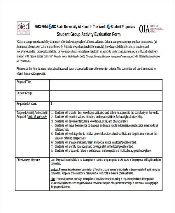 Group Activity Evaluation Template Peer Evaluation Form For Group