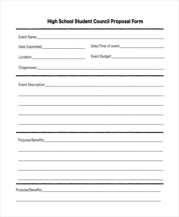 student council proposal form