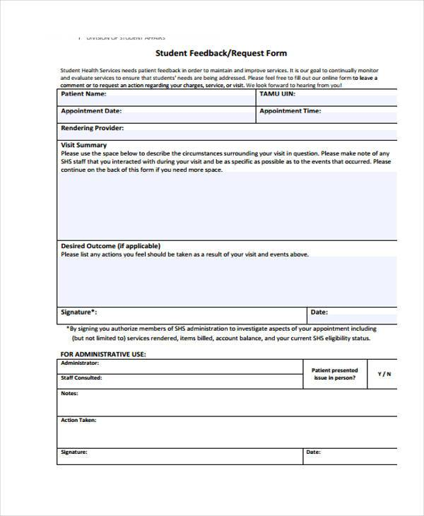 ebay feedback request template - sample performance feedback forms 8 free documents in