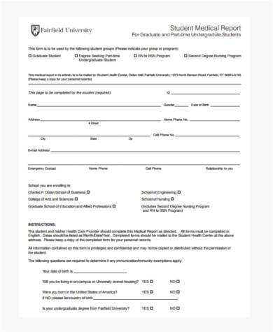 Sample Student Report Forms - 8+ Free Documents In Word, Pdf