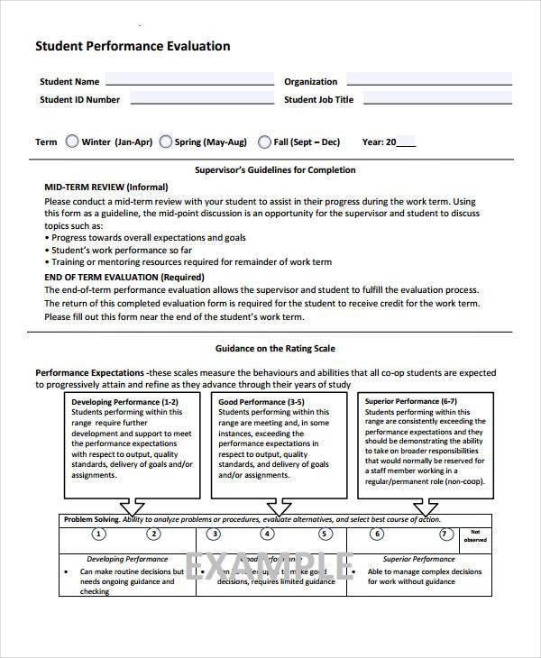9+ Student Evaluation Form Samples - Free Sample, Example Format