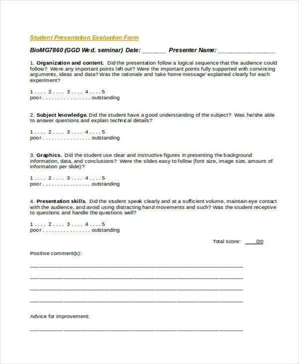 Student Presentation Evaluation Form4