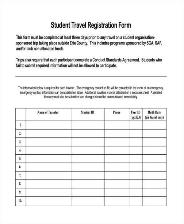 student travel registration form1