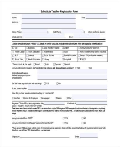 substitute teacher registration form